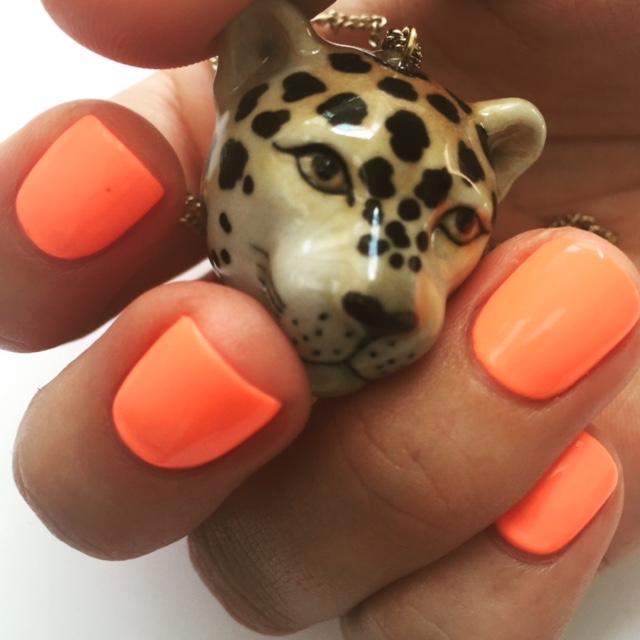 Nails With Cheetah Necklace