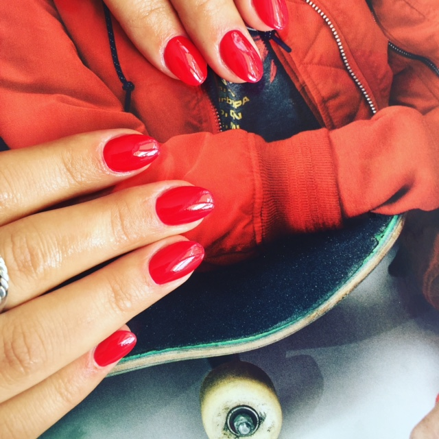 Red Nail Extensions