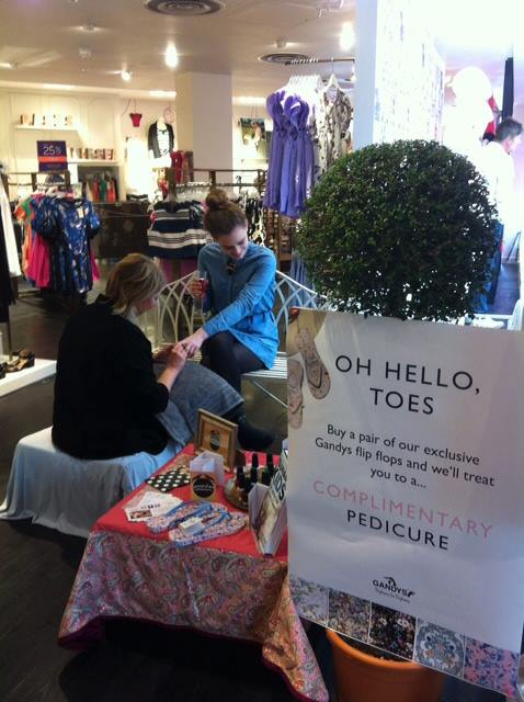 Pop Up Nail Bar At Oasis In Brighton