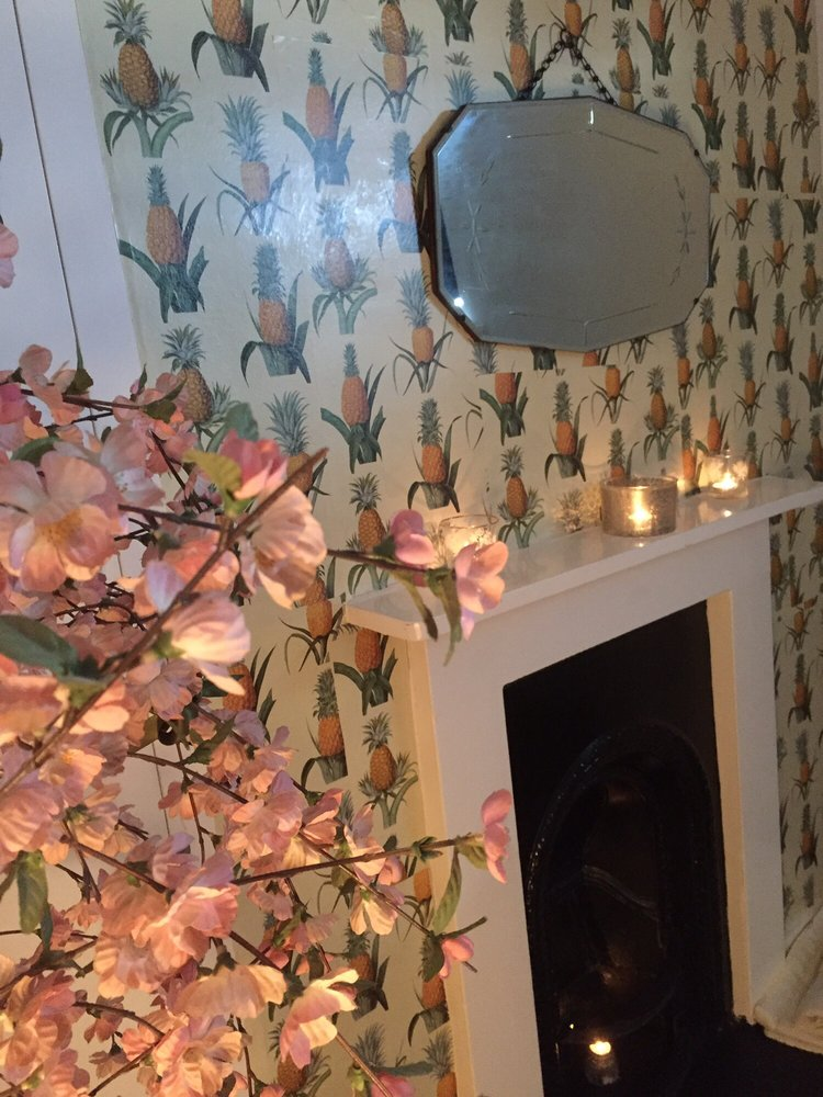 Pretty Pineapple Paper In The 'Cherry Blossom Room'