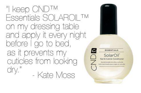 Kate Moss Is A Big Fan Of Solar Oil
